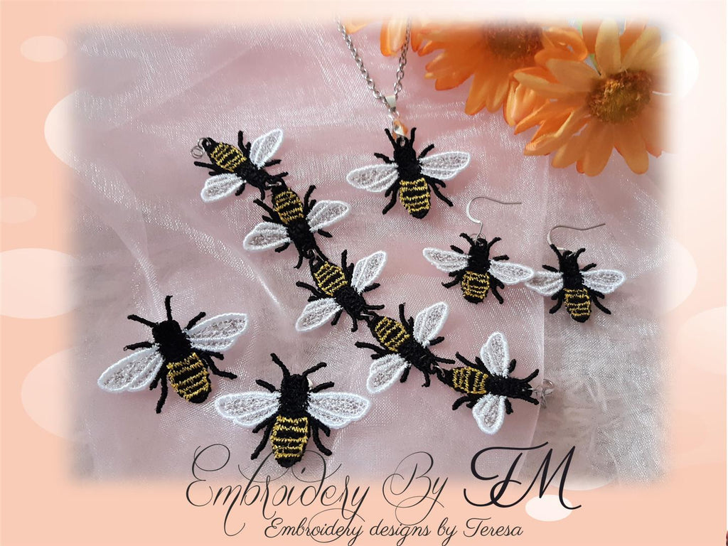 Realistic Honey Bee  - jewelry FSL