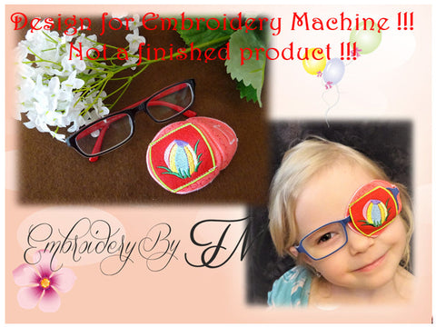 Eye patches for kids ( girl and boy)-occluder with ball/ 4x4 hoop/machine embroidery design