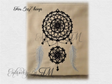 Dream Catcher one- embroidery design / three sizes / for JEF two sizes