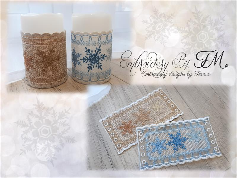 Jam jar covers or coaster - Pumpkin/ 4 sizes