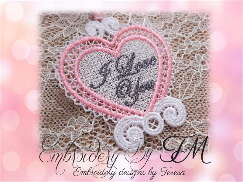 Heart - I love you / 4x4 hoop