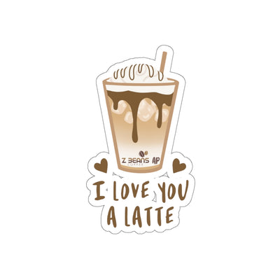I Love You A Latte - Sticker by Ashley Padilla