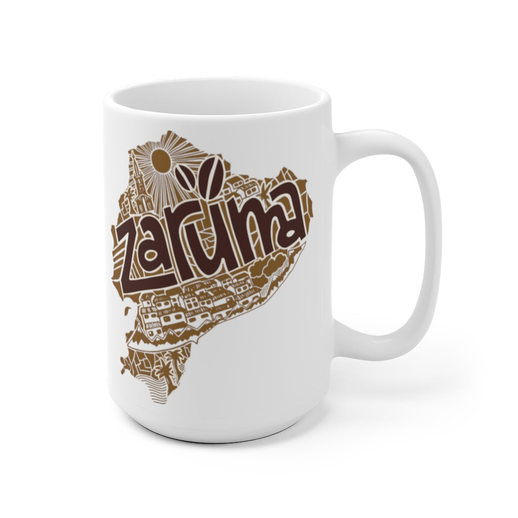 Zaruma White Ceramic Mug