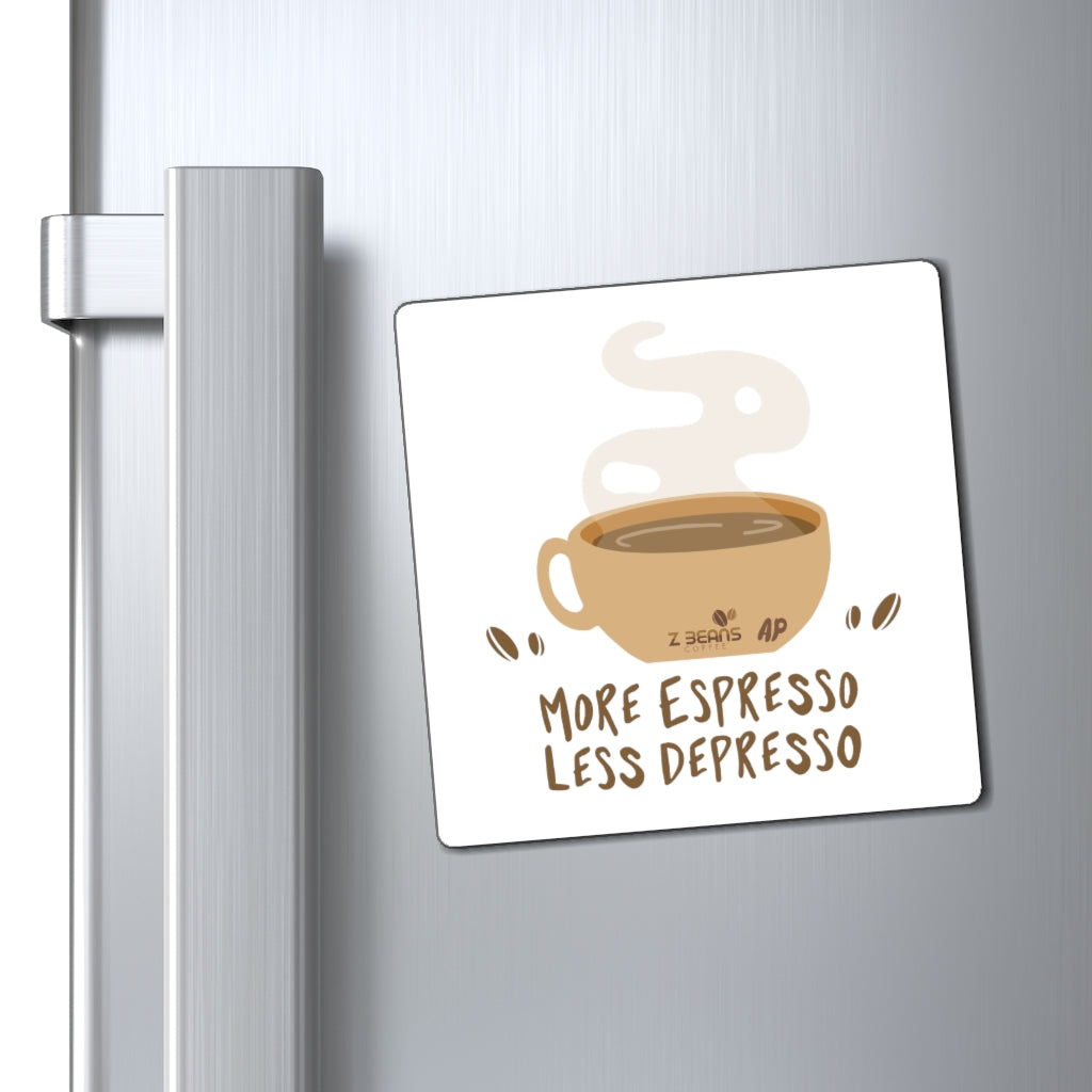 More Espresso Less Depresso - Magnet by Ashley Padilla
