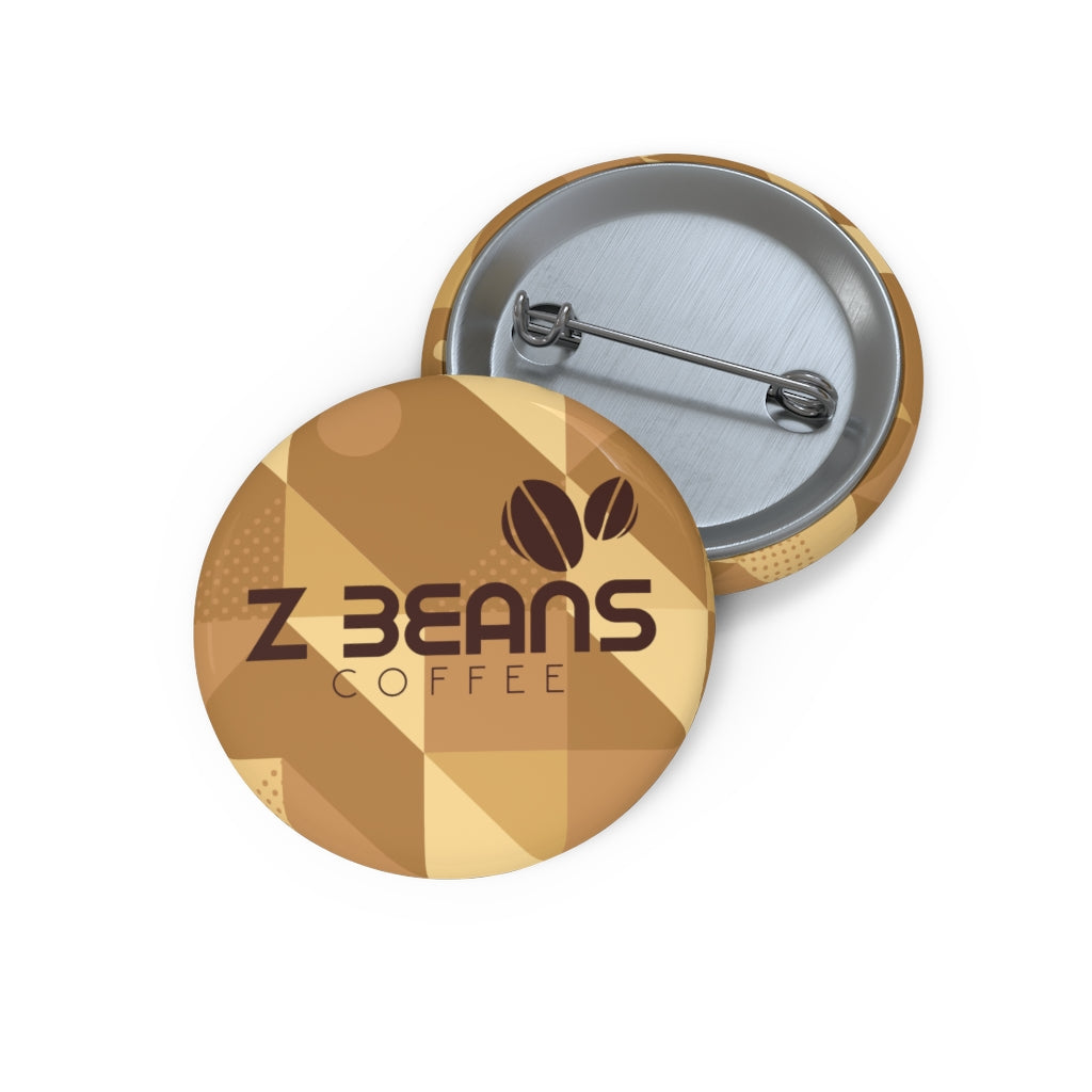 Z Beans Logo Pin Back Button