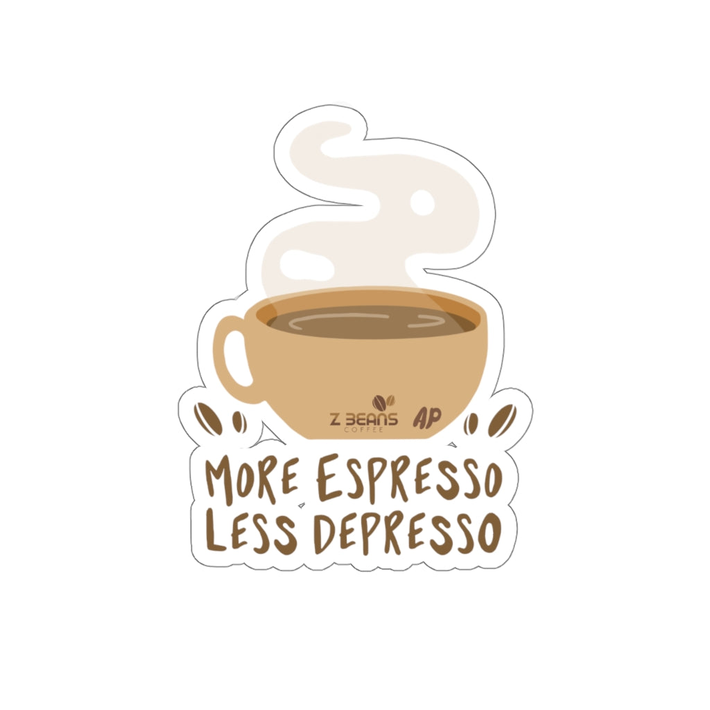 More Espresso Less Depresso - Sticker by Ashley Padilla