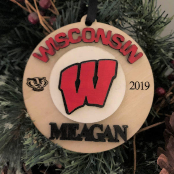College Custom Personalized Ornament