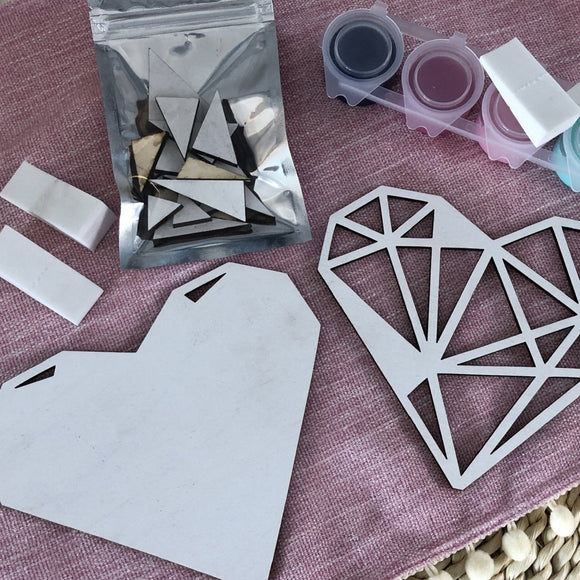 Geometric Heart Craft Kit