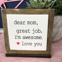Mother's Day Tile & Wood Sign