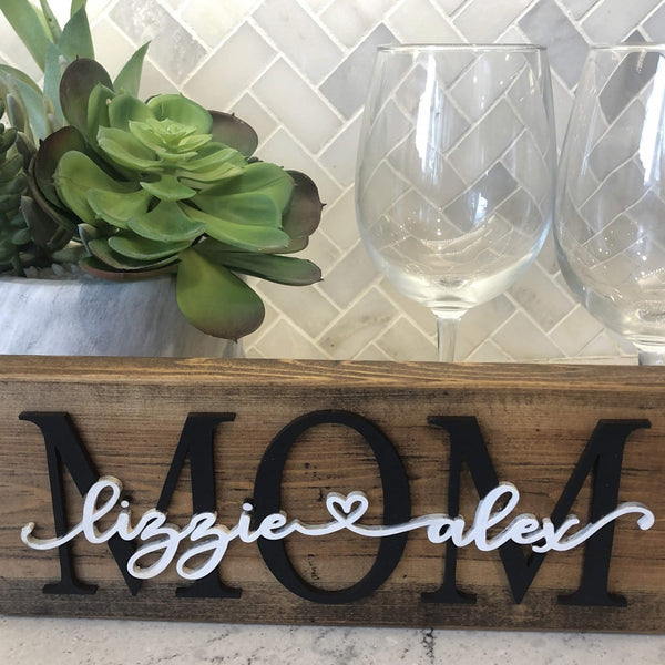 "Custom ""MOM"" Wood Sign"