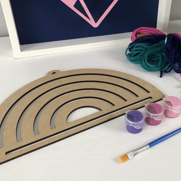 Rainbow Macrame DIY Wood & Yarn Kit