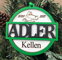 Adler Personalized Ornament