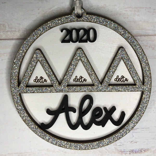 Fraternity or Sorority Custom Personalized Ornament