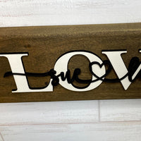 "Custom ""LOVE"" Wood Sign"