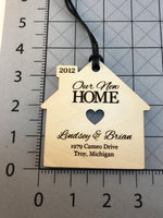 "Personalized ""Our New Home"" Ornament/ Gift Tag"