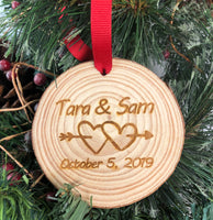Wood Slice Personalized Ornament
