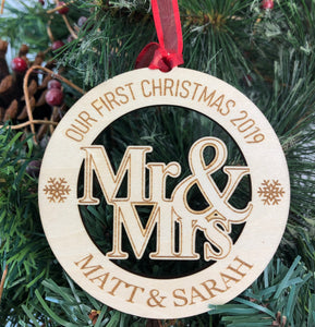 "Personalized ""Mr. & Mrs."" Ornament"
