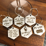 Friends Inspired Drink Charms (set of 6)