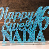 Custom Sweet 16 Cake Topper