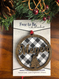 Buffalo Plaid Personalized Name Ornament
