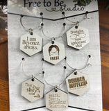 Office Inspired Drink Charms (set of 6)