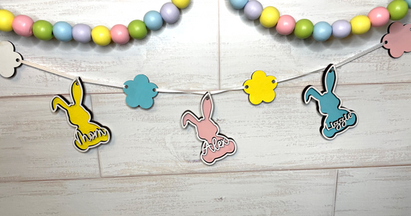 Easter Bunny Personalized Banner