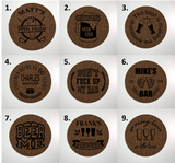 Personalized/ Custom Cork Coasters (set of 4)