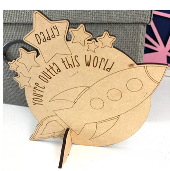 DIY Outta this World Father's Day Coloring Craft Kit