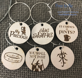 Lord of the Rings Inspired Drink Charms (set of 6)
