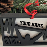 Crossfit Ornament Personalized for Weight-lifting and cross fit