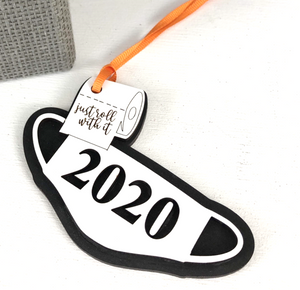 2020 Roll With It Ornament, Bag Tag Teacher gift, Grad gift
