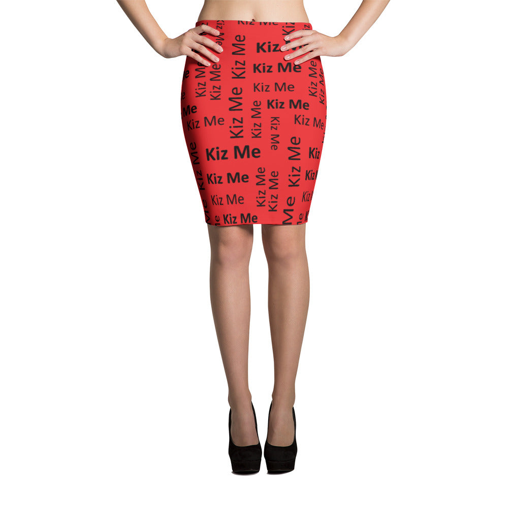 Kizz Me Red Pencil Skirt