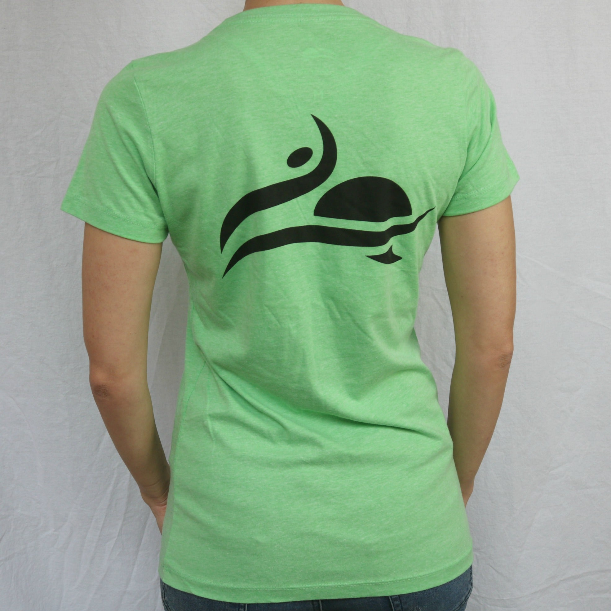 Longboardarian Girls Logo Tee - Apple Green