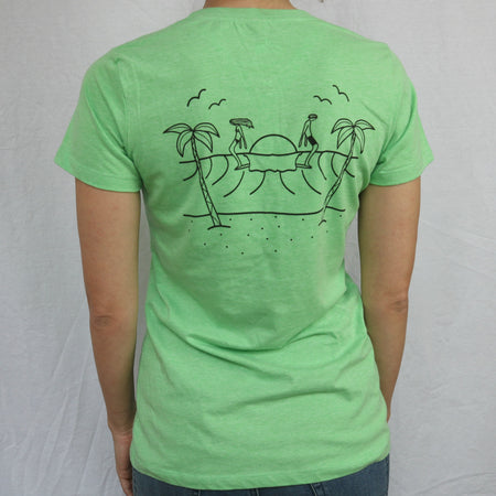 Longboardarian Cali Logging Girls Tee  - Apple Green