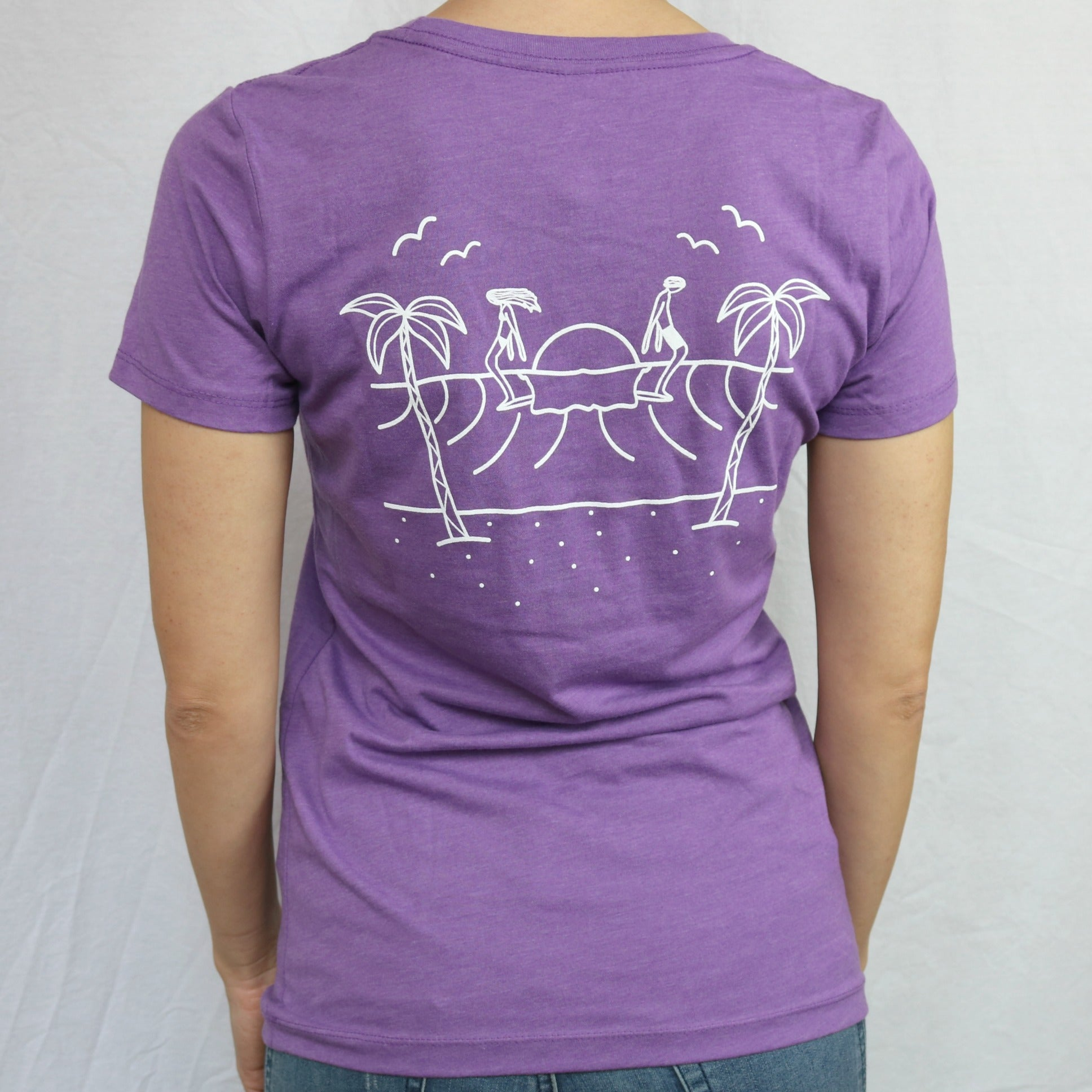 Longboardarian Girls Tee Cali Logging  - Purple Berry