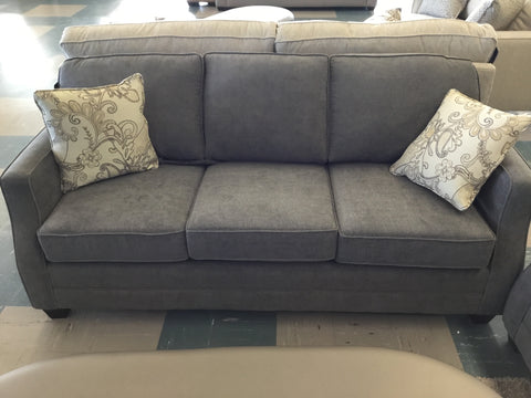 Celine Slate Sofa w/ Gilda Seashell Toss Cushion - 9539