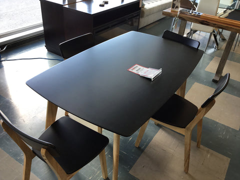 Black Table w/ 4 Chairs - #21