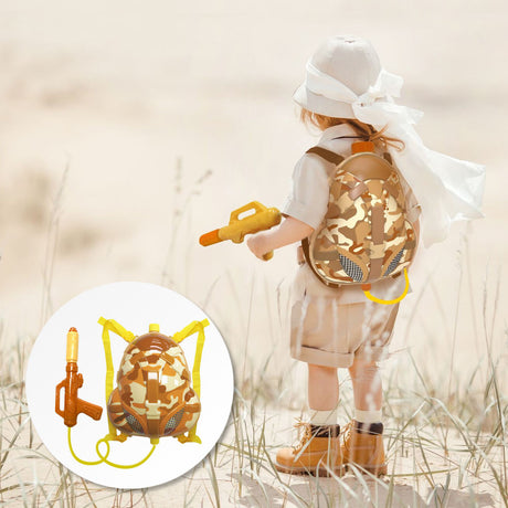 Nai-B Milistar Backpack Water Gun for Kids. [Desert Type]