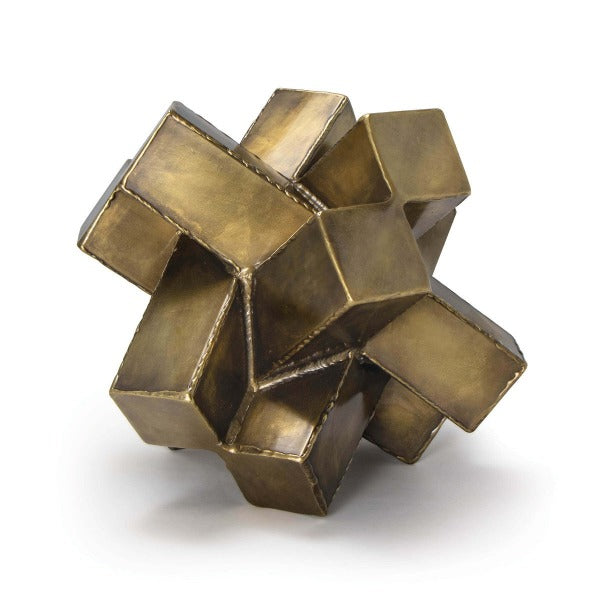 Brass Abstract Sculpture
