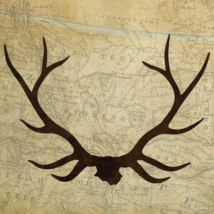 Antler Silhouette Prints