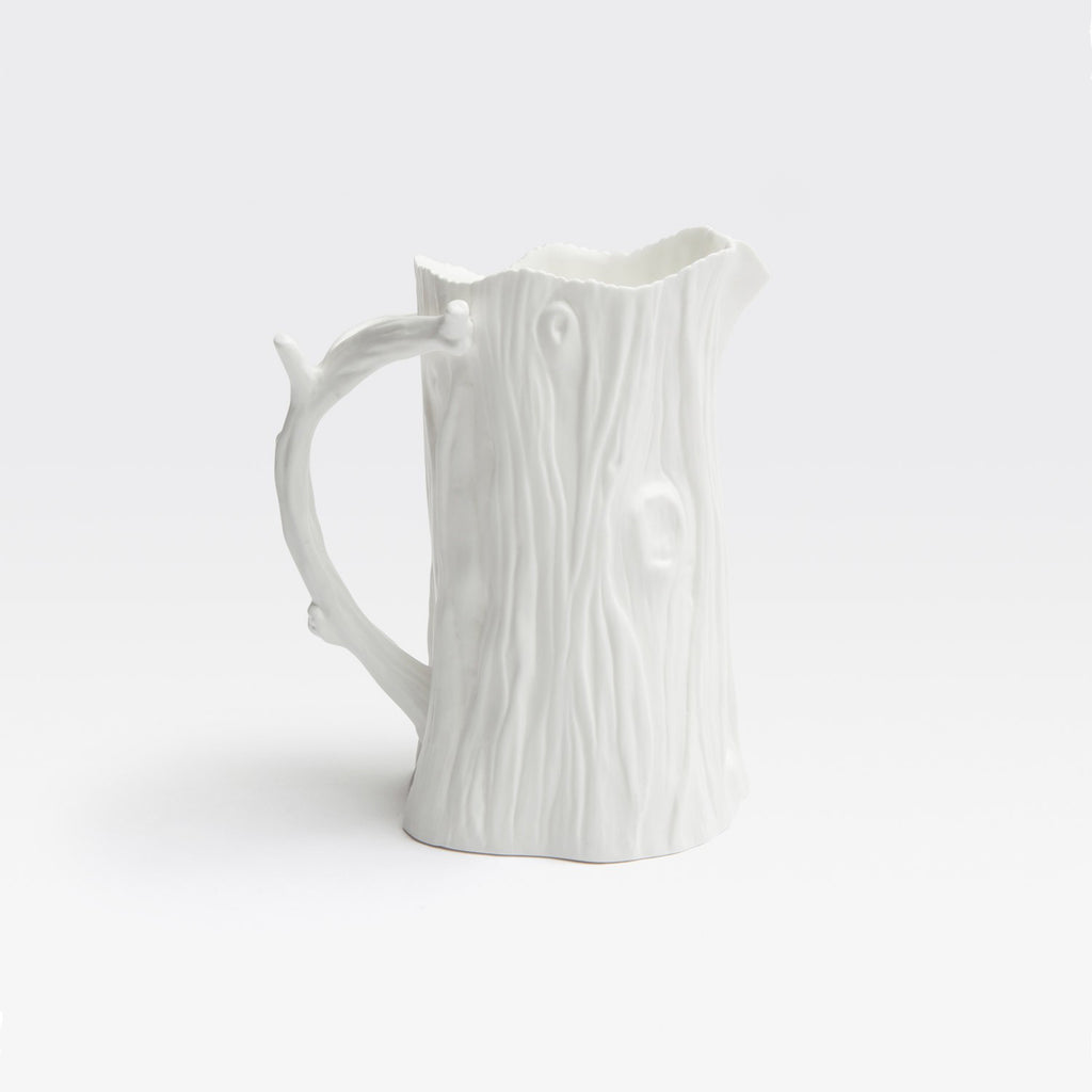 Faux Bois Porcelain Pitcher
