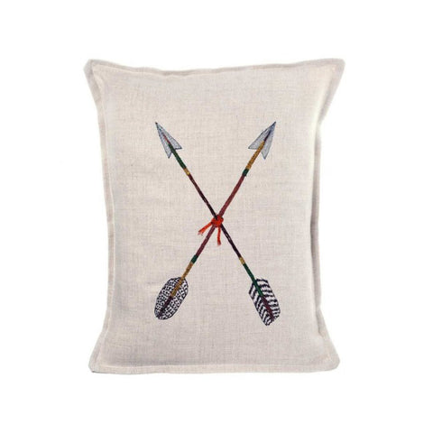 Embroidered Arrows Pillow