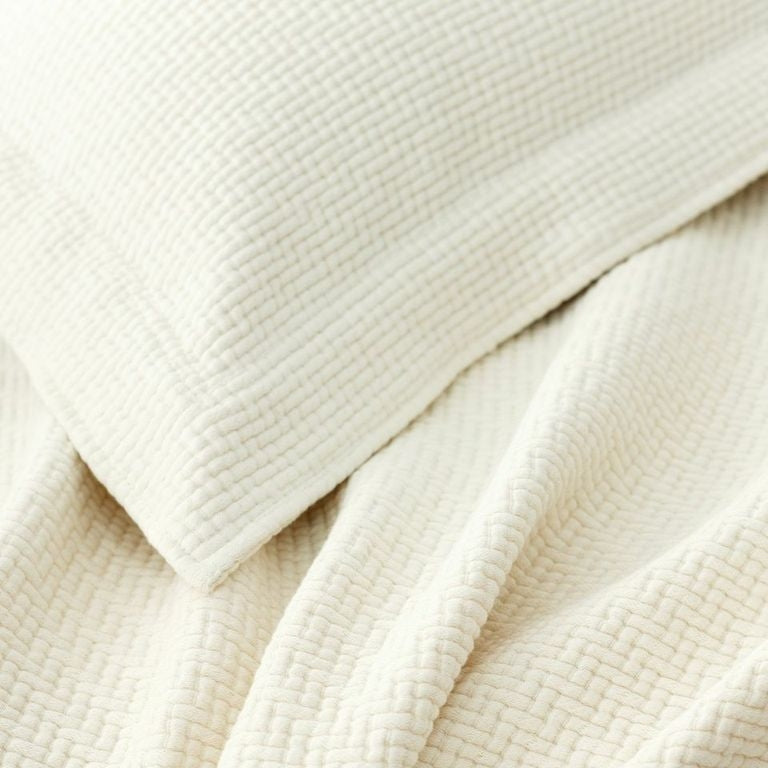 Ivory Interlaken Matelassé Coverlet