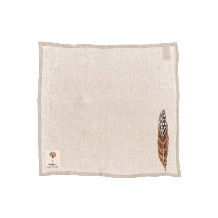 Linen Feather Napkins