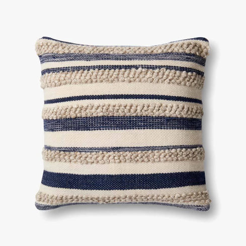 Navy Stripe Pillow