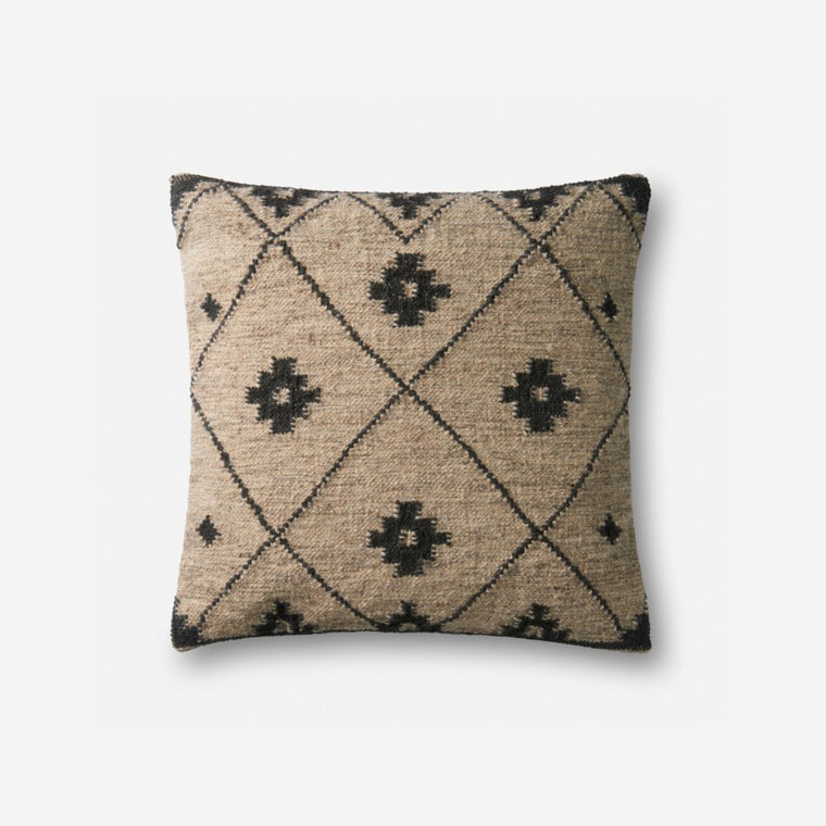 Kilim Wool Pillow - Charcoal