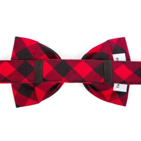 Red Buffalo Check Dog Bow Tie