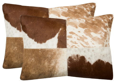 Cheyenne Hide Pillows - Set of Two