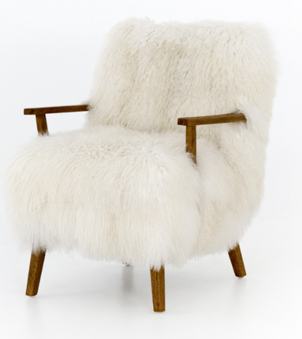 Ashbrook Mongolian Fur Chair