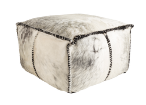 Hair on Hide Poufs